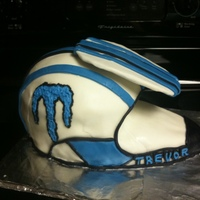 Bike Helmet Birthday Cake This was for my son who loves dirt bikes.