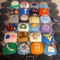 Iphone Cupcakes Lots of iPhone apps in cupcake form.
