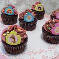 Chocolate Disney Princess Cupcakes