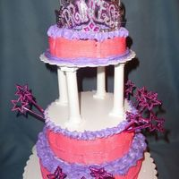 Princess Tiara Cake W/ Stars This is our first ever stacked cake. Thanx to all the many talented people here on cc who we have gathered inspiration from.