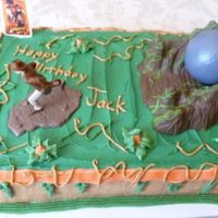 Indiana Jones Cake This is the second cake we made for a birthday.The first one crashed!