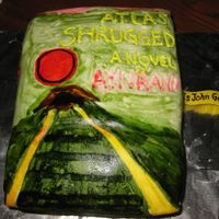 Atlascake1.jpg Atlas Shrugged Book Birthday Cake