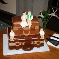 Luggage Wedding Cake We got remarried for our 5th anniversary and we wanted a cake to show our love for travel, and for our two boys. This is the cake we ended...