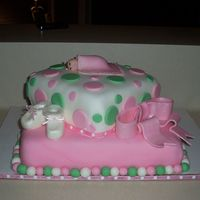 Courtney's Cake A baby shower cake I made for our neice. It is WASC covered in fondant. I really enjoyed making this cake. Thank you to everyone who post...