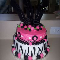 Marsha Birthday Cake Another zebra cake I know, but this was my first. For my stepdaughters birthday. The top layer is chocolate with buttercream icing and the...