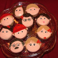 Cupcake Faces Cupcakes for a suprise birthday party. MMF