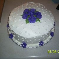 Purple Rose Dot Cake