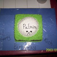 "Golf Ball I made this for my uncle's birthday. My aunt and uncle own a golf course...Palmira GC, hence the ""Palmira"" on the ball. I..."