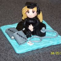 Graduation Topper I made this for a graduation topper for one of my friends. She is graduating as a nurse practitioner. I also have to make a boy topper for...