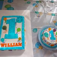 1St Birthday Boy Cakes i made for my son's 1st birthday. MMF decorations, painted with gel color thinned with vodka, on butttercream iced cake. My...