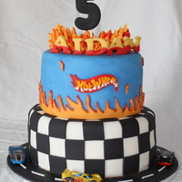 Hot Wheels Car Birthday Cake   Double chocolate fudge cake with buttercream and fondant