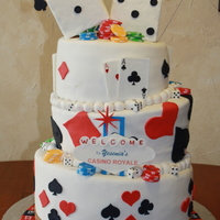 Poker Casino Las Vegas Customer was having poker themed party, everything fondant, poker chips, dice, playing cards, roulette wheel and Las Vegas replica sign ,...