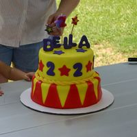 2Nd Birthday - Carnival Theme This was my first time using fondant or making a 2 tier cake...I fell in LOVE with it! All decorations are fondant. The cake was for a...