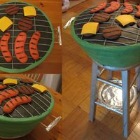 "Grill Life size to feed 180, ""grilled"" sugar cookies. I bought a stool from a Boscov's going out of business that was liquidating..."