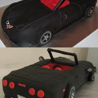Corvette cake for my boss's bday. packed full of tasty brownie points!