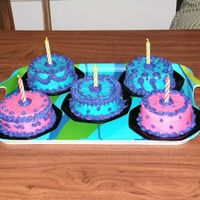 Mini B-Day Cakes So Fun!!!