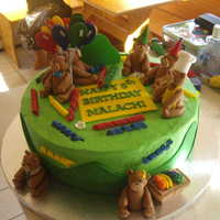 Teddybear Party Made this cake for my nephews classmate, he's really into his build a bear teddy so he wanted a teddybear party.This was my first time...