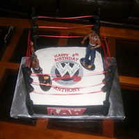 Wrestling   Made this for my bf son's birthday...fondant and gumpaste...TFL