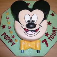 Childs Mickey Mouse Cake I made this sponge mickey cake for my neice as her sister had the minnie mouse cake. I think the ears should have been further apart but...