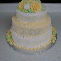 Wedding In A Rush! First Wedding Cake This is a cake I wasn't planning on doing. The Bride contacted me a couple days before her wedding with a cake crisis. She had her...