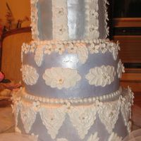 Lilac And Lace fondant with gumpaste decorations