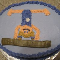 Abbie's Gymnastics Cake all bc. thanks to bellsnbows for the great template