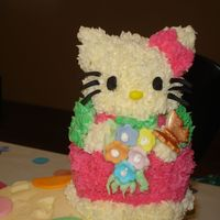 Hello Kitty   bc hello kitty cake with fondant accents