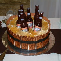 Need A Six Pack? Sugar beer bottles and cake.