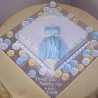 Thank You Mummy For Your Tummy I made this cake for a baby shower of a friend of mine who will be having a baby boy. I was inspired by some of the C C cakes (thank you...