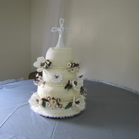 Watt/gilbert Wedding This cake is for a friend to whom I had promised I would make her cake even before she a boyfriend. Four tier WASC cake filled with...