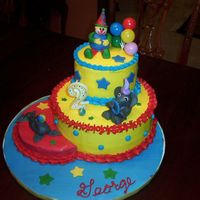 Circus Cake I made this circus cake for my nephew's 2nd birthday. It is iced in buttercream with fondant accents. The clown, elephant and seal are...