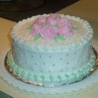 First Time Rose Cake Wilton Class 1 Cake-BC Icing & RosesNewbie Here..but loving it!