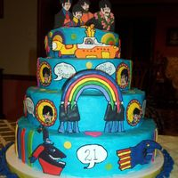 Beatles Birthday Cake I made this Beatles birthday cake for my sons 21st birthday. It was the 1st stacked cake I've ever made (I'm a newbie, just...