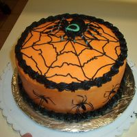 Buttercream Spider Cake Did this in a huge hurry (could have been a little neater on the borders)! Did it for a church cake walk and waited to the last minute. It...