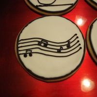 Music Cookies These are sugar cookies with royal icing.