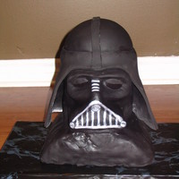 Darth Vader Has a very hard time with the black fondant,,,, it kept ripping and being a general pain in the bbbb...