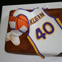 Basketball Cake For my girlfriends husband turning 40