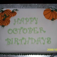October Birthdays For our church, thanksgiving and halloween