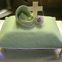 Baptism Pillow Cake I fell in love with feverfixer's baptism pillow cake and was so excited to have a chance to make one. I used Satin Ice fondant but had...