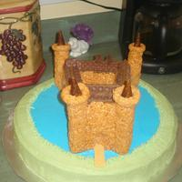 Caerlaverlock Castle A friend of the family is a descendant of the owners of this castle in Scotland. I replicated it for his birthday using Rice Crispy Treats...
