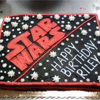 Star Wars Cake star wars cake I made for a customer