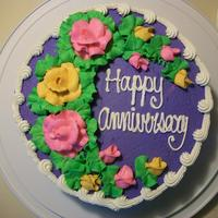 Anniversary   WASC Cake with raspberry filling, buttercream frosting