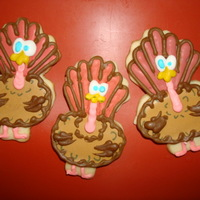 Silly Turkeys Made these sugar cookies with royal icing for my grandchildren's class partys.