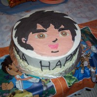 Diego 10 inch Diego cake made with a buttercream transfer