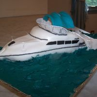 Carver Yacht Cake This cake was for my mom's boyfriend's birthday and father's day. I tried to replicate his boat. His boat's name is &...