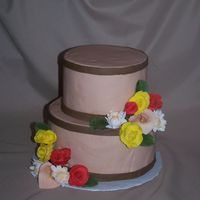 Sugar Flower Cake Dummy cake, I wanted to practice my sugar flowers. Thanks for looking!