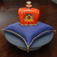Crown Royal Cake This is the first pillow cake I've done. The color of the bottle is a little more orange than I wanted, but I still think it turned...