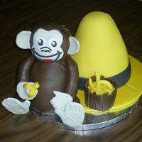 Curious George A friend asked for a monkey cake...I got a little carried away :)