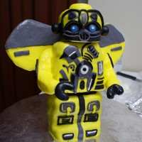 Lego Bumblebee Transformer  3d Mold rubber pan from lego. Double layers and cutting head and body for each boards with dowel supporting with board. Bumblebee's...