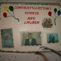 Donnies Graduation Cake made with edible images